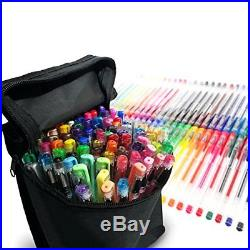 100 Pack Tekameka Art Gel Pens Set + Carrying Case for Adult Coloring Books Gift