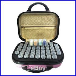 132 Bottle PINK Tool Storage Carry Case DIY 5D Diamond Painting Drill Beads