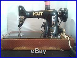 1950s PFAFF MODEL 30 SEWING MACHINE WITH CARRYING CASE