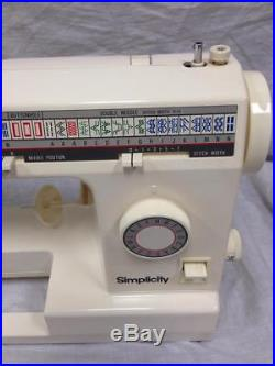 1980's Simplicity Sewing Machine 4700 with Wooden Carrying Case
