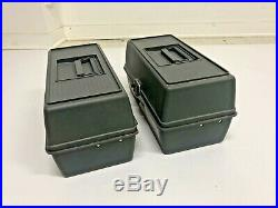 2 Ekco Woodstream Tackle Box Lot plastic carrying Case tote storage craft supply