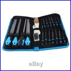 20PCS Precision Metal Stone Needle File Set DIY Craft Hand Tools + Carrying Case