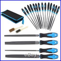 20Pcs 100mm Needle File Set Precision Metal Stone Craft Hand Tools Carrying Case
