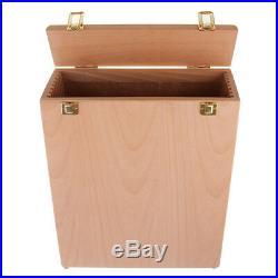 2pcs Artist Wooden Art Wet Canvas Panels Carrier Carrying Case Storage Box