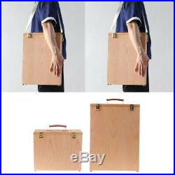 2pcs Wooden Wet Canvas Carrier Oil Painting Board Carrying Case Storage Box