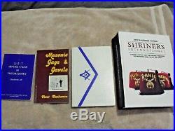 3 Freemasonry Wall Interior Decor, A Doily, 4 Freemasonry Books, Carrying Case