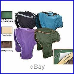 3 Layer Tack Storage Padded Western Horse Saddle Carry Bag Case, Black Sports