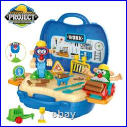 39pc Roadworks Dough Toy Set Carry Case Role Play Kit Childrens Kids Craft Mould