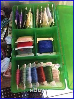 400 Cards Floss Thread Mixed Lot 5 Carrying Cases Organizers Bobbins 215 Threads