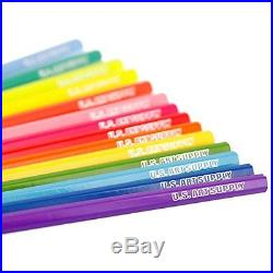 50 Piece Adult Coloring Book Art Colored Pencils & Reusable Plastic Carry Case