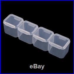 5Pcs 28 Slots Detachable Clear Plastic Beads Storage Box Jewelry Organizer