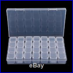 5Pcs 28 Slots Multi-Use Transparent Plastic Storage Box Case Organizer