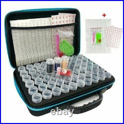 5d Diamond Painting Storage Box Container Bag Carry Case 120 Bottles Accessories