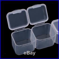 5x 28-Grids Clear Plastic Beads Storage Box Jewelry Nail Case Organizer