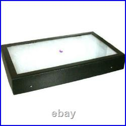 6 Black Gemstone Showcase Trays Jewelry Carrying Case