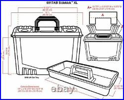 6917AB Sidekick XL Carrying Case, Portable Art & Craft Organizer with Handle