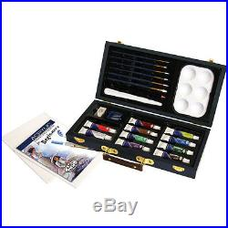 Artists Beginners Acrylic Painting Art Set In Carry Case By Royal & Langnickel