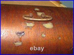 Antique Harris Cast Iron Hand Crank Sewing Machinw With Original Carry Case