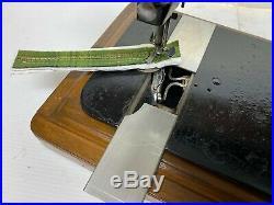 Antique Original Singer 28k Cast Iron Hand Crank Sewing Machine & Carry Case