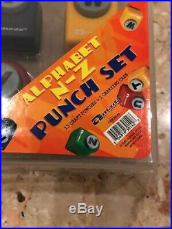 Armada Alphabet N-Z Punch set 13 Craft Punchers Carrying Case