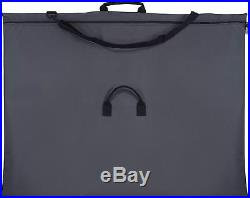 Art Portfolio Case Artist Bag Carry Storage Waterproof Shoulder Strap Black