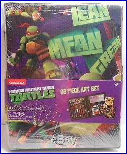 Art Set TEENAGE MUTANT NINJA TURTLES Complete 68 Piece Craft Carrying Case