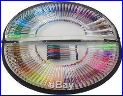 Artist Coloring Drawing Gel Pens Writer Marker Set Semi Circle Case Carry Bag