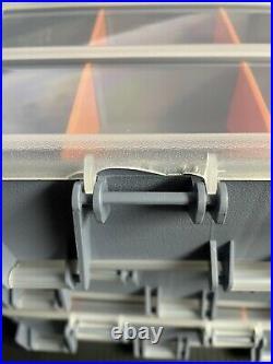 B Stock Craft Sewing Storage 12 Customizable Tackle Box Carrying Case (2 Pcs)
