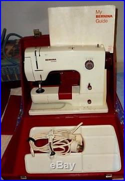 BERNINA 807 MINIMATIC SEWING MACHINE With CARRY CASE & ACCESSORIES Swiss Made