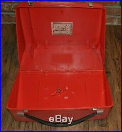BERNINA RECORD 830 Sewing Machine Red Carry Case withStyrofoam Inserts ONLY