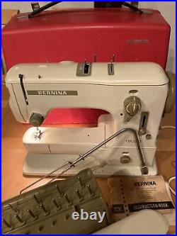 BERNINA RECORD SEWING MACHINE 530 With Hard Carrying Case / SWITZERLAND