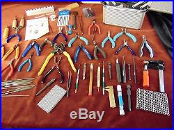 BIG HUGE LOT Jewelry Making TOOLS Pliers WIRE CUTTERS Crafting +CARRYING CASE