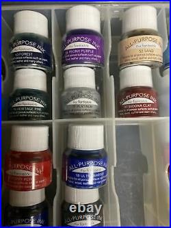 BRAND NEW Tsukineko All-Purpose Ink With Carrying Case 36 Inks