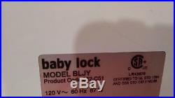 Baby Lock Journey Sewing Machine Bljy With Portable Carrying Case Superb Unit Fa