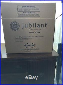 Baby Lock Jubilant Sewing Machine Excellent Condition with box/carrying case