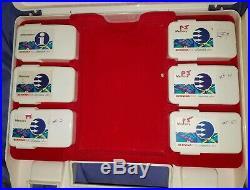 Bernina 1630 Set Of 6 Memory Stitch Keys withOriginal HTF Storage Carrying Case