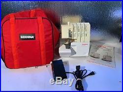 Bernina 800DL Overlock Serger Sewing Machine, Red Carrying Case, Foot Controller