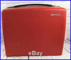 Bernina 807 Minimatic Sewing Machine Red Carrying Case w Inserts for quellomoon