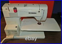 Bernina 830 Portable Sewing Machine with Red Carry Case 8 Feet Tested Runs Well