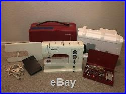 Bernina 830 Record Free Arm Zigzag Sewing Machine W Carry Case And Extras