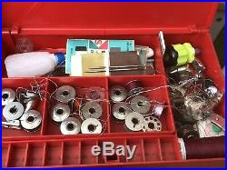 Bernina 830 Record Sewing Machine, Made in Switzerland, With Carry Case And Spares