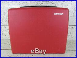 Bernina 830 Red Sewing Machine CASE ONLY Hinged Cover Carrying Portable Original