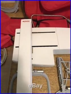 Bernina MAchine Embroidery Limited Ed. 730 Model 3hoops Carrying Case And More
