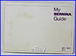 Bernina Matic Electronic 801 Sewing Machine w Foot Pedal Carrying Case Extras