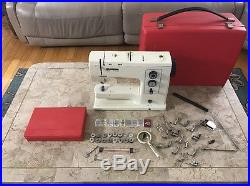 Bernina Record 830 Electronic Sewing Machine With Accessories And Carrying Case