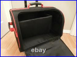 Bernina Red Sewing Machine Large Wheeled Carrying Case Tote Bag
