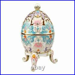 Big Faberge Egg Jewery Trinket Box Russian Craft Royal Easter Collectibles Gift