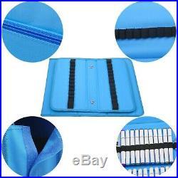 (Blue) NIUTOP 80 Slots Marker Pen Case Markers Carrying Bag Holder for