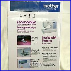 Brother CS5055PRW White LCD Display Computerized Sewing Machine Project Runway