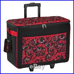 Brother Carrying Case (Rolling Tote) for Paper Craft Machine Red